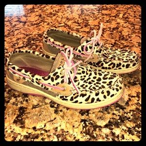 Sperry Leopard Print Shoes